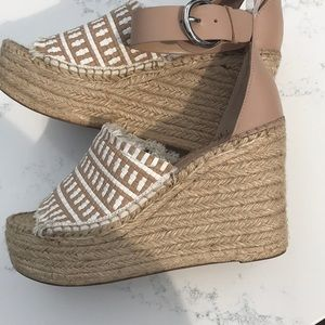 223471e0ca5f Marc Fisher Shoes - Andrew Espadrille Wedge Sandal MARC FISHER LTD NEW